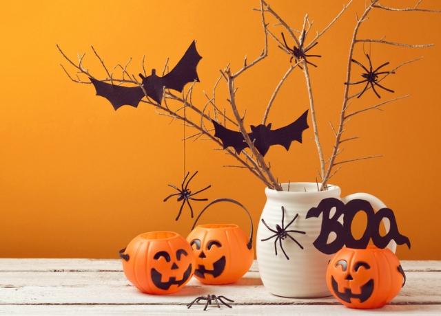Csináld magad denevéres asztaldísz Halloweenre