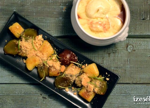 Krumplinudli friss szilvával édes morzsában és Fűszeres szilvaleves