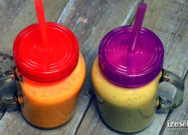 Narancssárga smoothie és Zöld smoothie