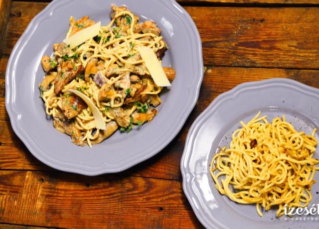 Fokhagymás, olajos tészta és Gombás spagetti
