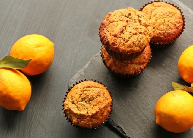 Citromos-mákos muffin