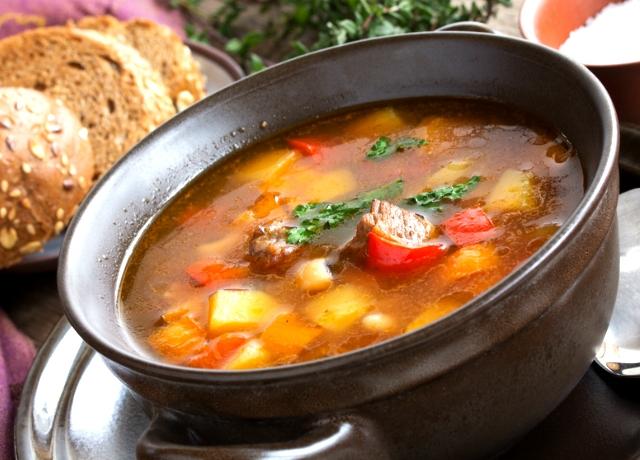 Őszi leves sült zöldségekből