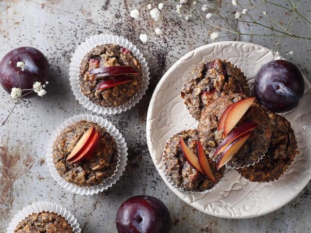 Őszi mákos-gyümölcsös zabmuffin