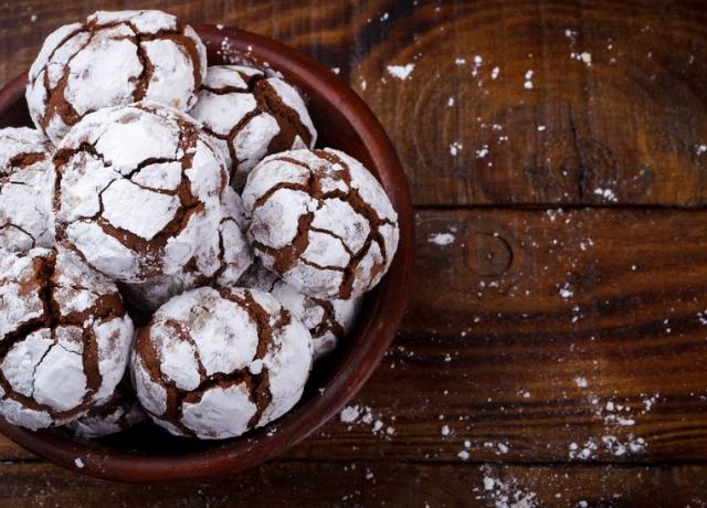 Porcukros csokis keksz