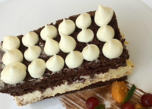 Csokoládés-babapiskótás szelet