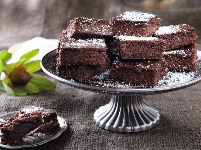 Gluténmentes céklás brownie
