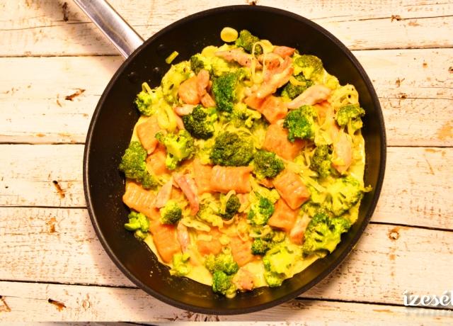 Sütőtökös-ricottás gnocchi brokkolis csirkével