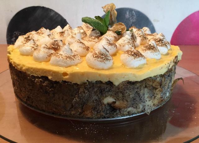 Mákos guba torta