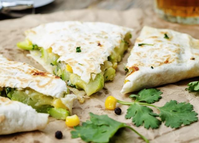 Brokkolis quesadilla