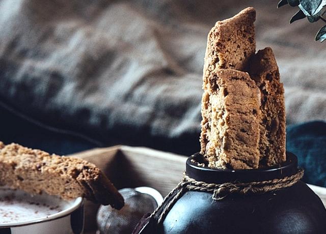 Sós karamellás- étcsokoládés biscotti