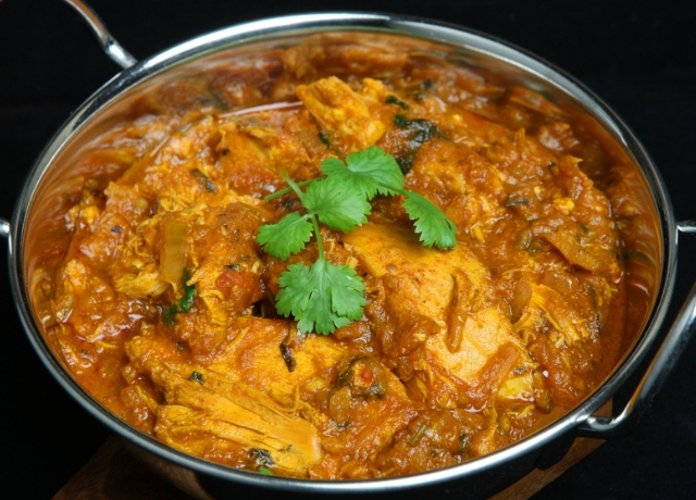 Csirkés ananászos curry a mikróban