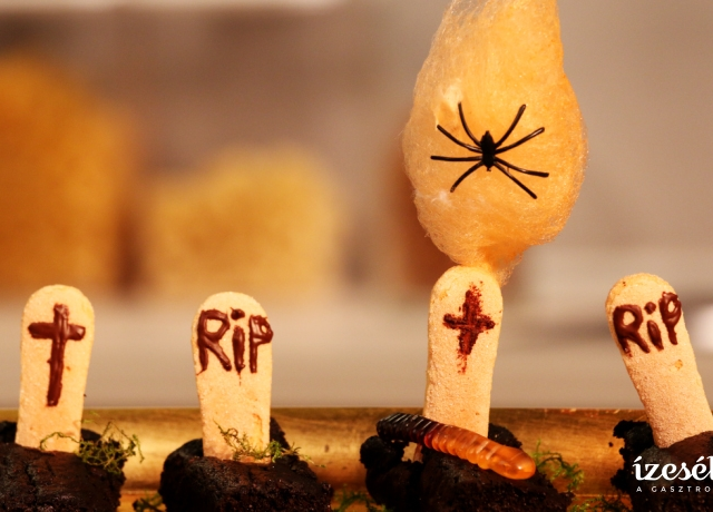 Céklás brownie koporsók Halloweenra