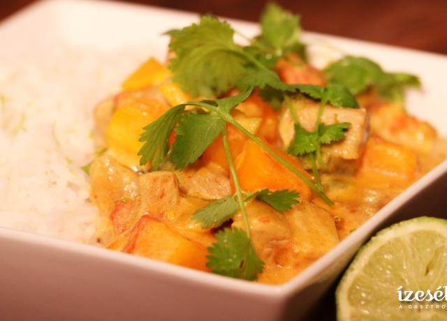 Sütőtökös curry jázmin rizzsel