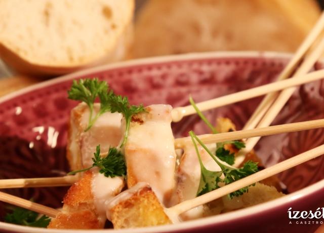 Három sajtos fondue
