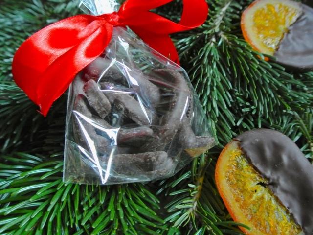 Kandírozott narancshéj ajándékba