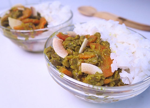 Kókuszos lencse curry