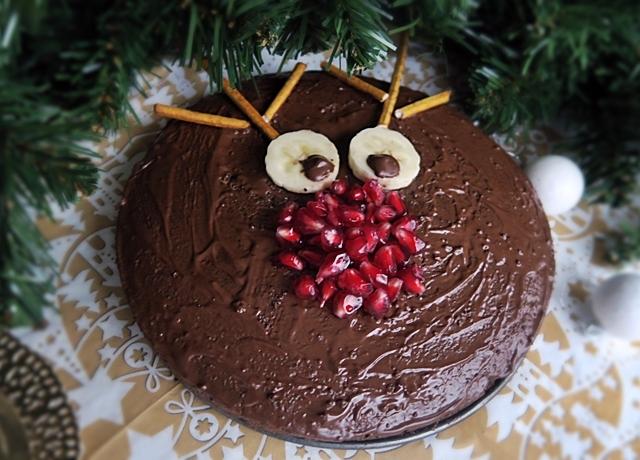 Mákos rénszarvas torta