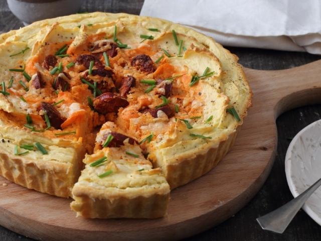 Ez a recept egyszerűen nagyszerű! Muszáj kipróbálni!  Burgonyapürés quiche