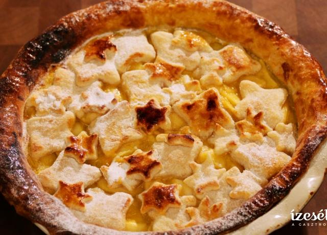 Fahéjas almás vanília pudingos pite