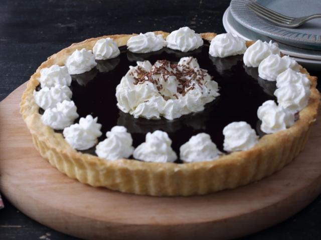 Nagyon nagyon csokis süti recept következik: Étcsokis-narancslekváros pite
