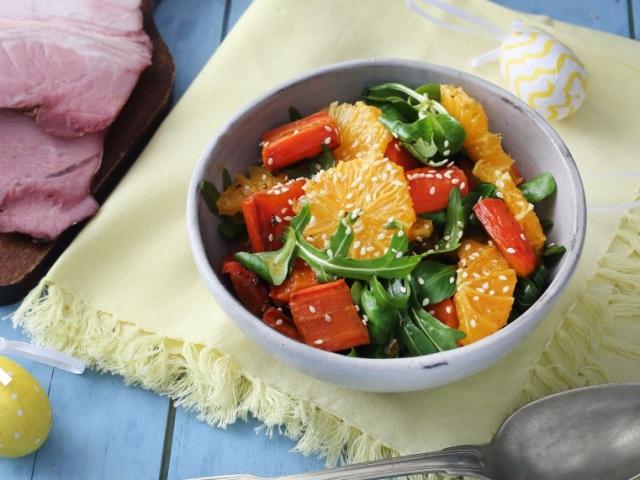 Narancsos sültrépa-saláta