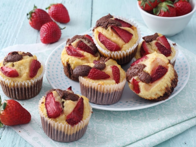 Epres-túrós muffin