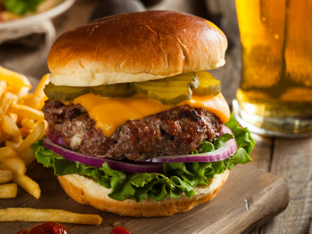 Hamburger, grill, nyár