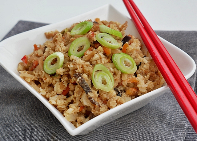 Sült karfiol rizs