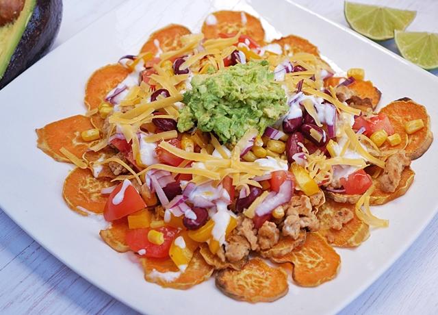 Édesburgonya nachos
