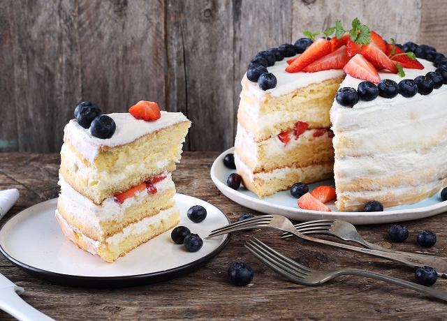 Anyák napi ricottás-gyümölcsös torta