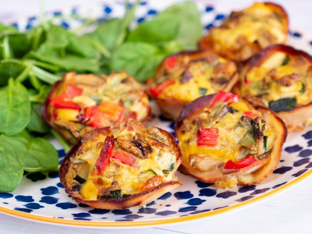Zöldséges-sonkás tojásmuffin