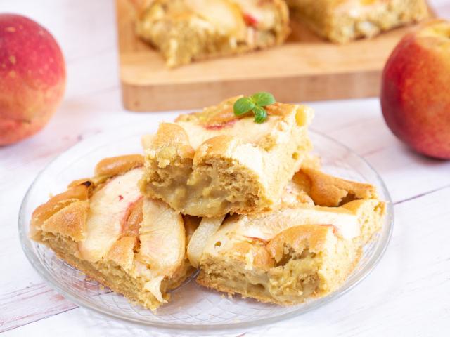 Őszibarackos-vaníliapudingos pite