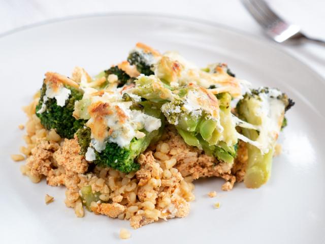 Rakott brokkoli tofuval