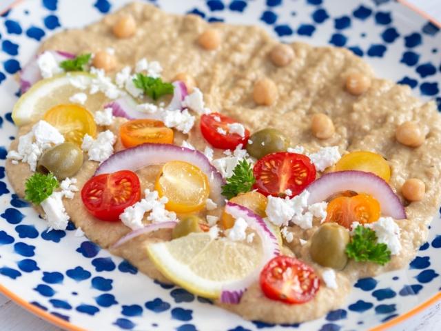 Humusz saláta