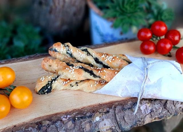 Spenótos-sajtos rúd