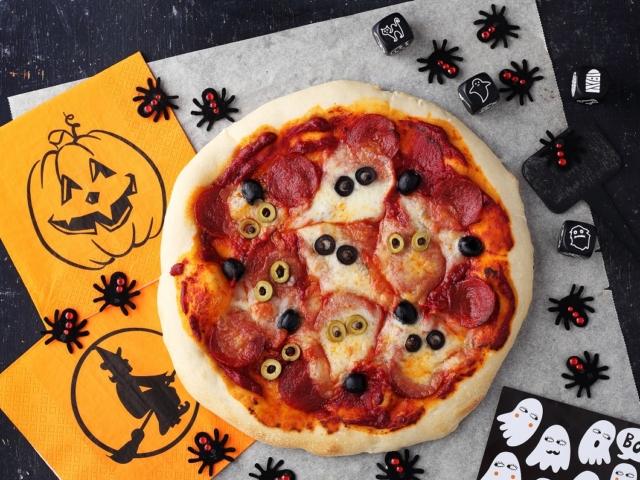 """""""Szellemes"""" pizza"""