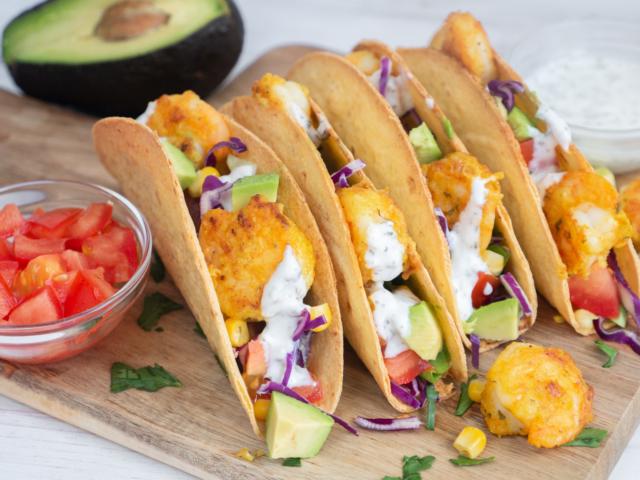 Garnélás taco